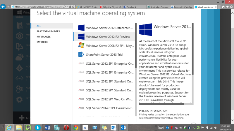 Server 2012 R2 Preview available in Windows Azure and to
